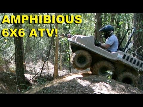 """Amphibious 6x6 ATV!  """"Go Anywhere"""" Max II from Recreatives Industries"""