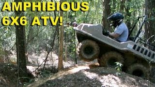 "Amphibious 6x6 ATV!  ""Go Anywhere"" Max II from Recreatives Industries"