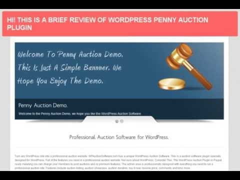 Best Wordpress Penny Auction Plugin Review & Demo