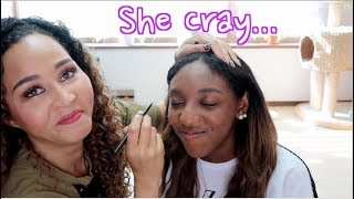 Giving My Sister a Korean Makeup Makeover