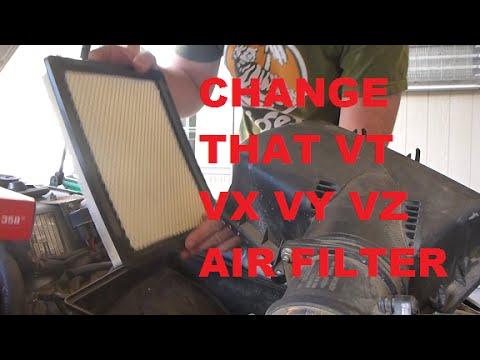 Cabin Air Filter >> Holden VT VX VY VZ V6 Air Filter Change HD - YouTube