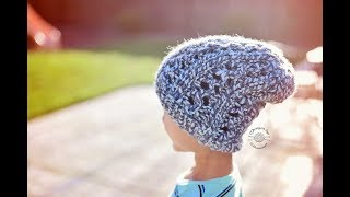 Knit Cera Slouch Beanie (Adult size) Tutorial