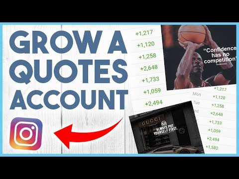 😄 HOW TO GROW A QUOTE PAGE ON INSTAGRAM - THE NICHE PROJECT #3 😄