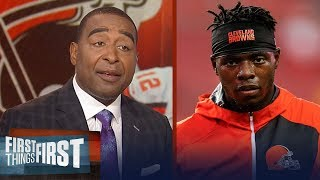 Cris Carter reacts to Josh Gordon missing the start of Browns' camp | NFL | FIRST THINGS FIRST
