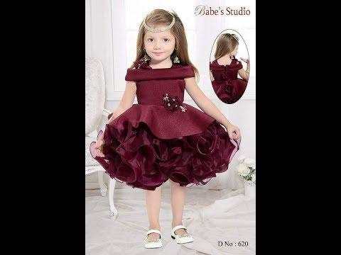 خياطة فستان سواريه للاطفال
