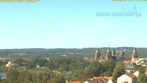 Zeitraffer Webcam Aschaffenburg mit Blick auf Schloss Johannisburg, Pompejanum und Main