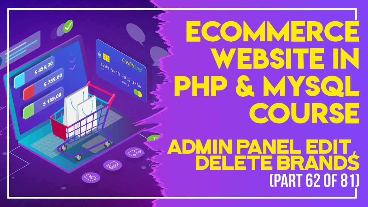 E-Commerce website in PHP & MySQL in Urdu/Hindi part 62 Admin Panel insert brand