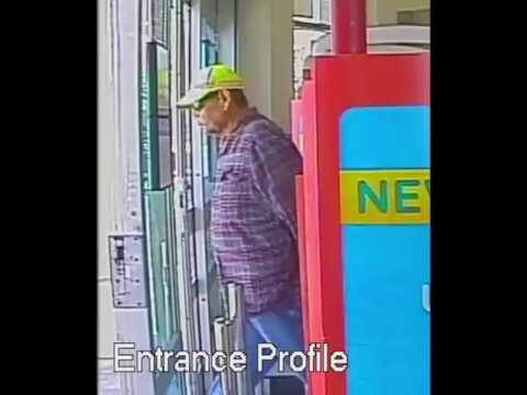 Surveillance Video of Suspect Wanted in Serial Pharmacy Robberies