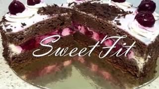 "Диетический торт ""Черный лес"". Фитнес торт. ПП торт. Dietetic cake."