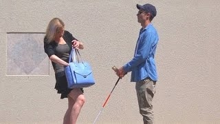 Would You Steal Money From a Blind Man? - Social Experiment