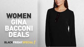 Black Friday Women Gina Bacconi Deals: Gina Bacconi Women's Sequin Trim Crepe Tops