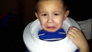 Our son's head stuck in potty seat
