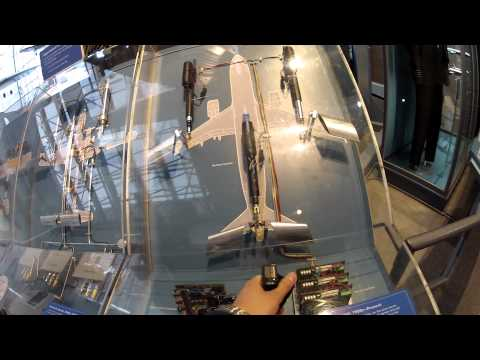 A320 Fly-By Wire Flight Controls Demo Smithsonian Air and Space Museum HD