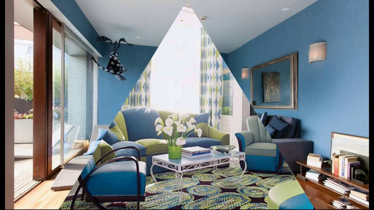 Blue Modern Living Room Zebra Accessories For With Sofa Youtube