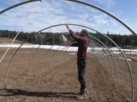 how to build a hoophouse - youtube