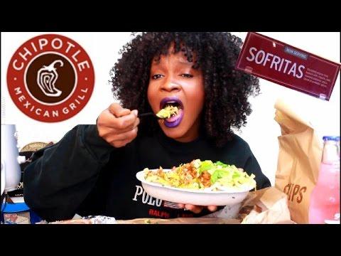 ASMR/MUKBANG: HUGE CHIPOTLE BOWL! (VEGAN) EAT WITH ME!  YUMMYBITESTV