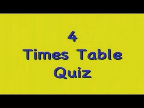 Kidzone Four Times Table Quiz