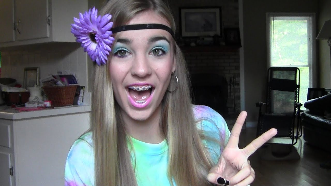Hippie costume eye makeup