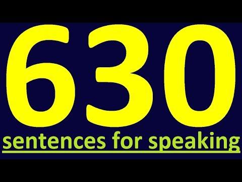 630 ENGLISH SENTENCES TO SPEAK ENGLISH CORRETCLY.  HOW TO LEARN ENGLISH SPEAKING EASILY