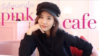girls day in hongdae: stylenanda cafe & more pink things.