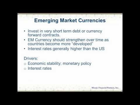 Alternative Investments, Part 5: Emerging Market Debt and Currency