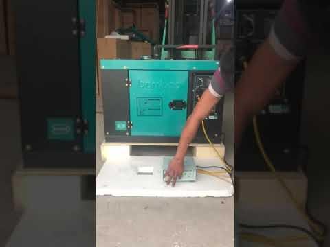 Chạy thử Máy phát điện chạy dầu 8kw Bamboo 9800EAT có tủ tự động ATS