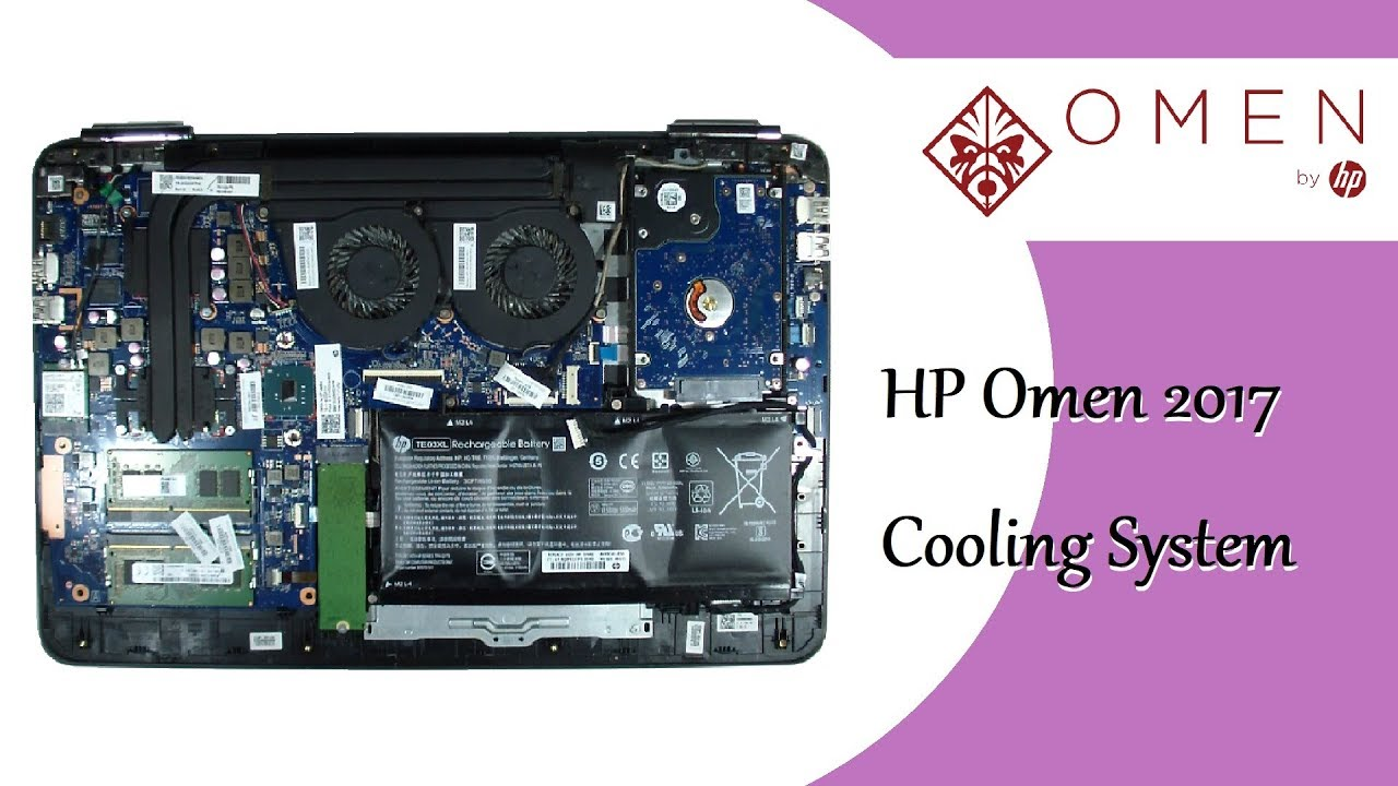 HP Omen 2017 Cooling System, Fan Replacement, Thermal Paste Replacement