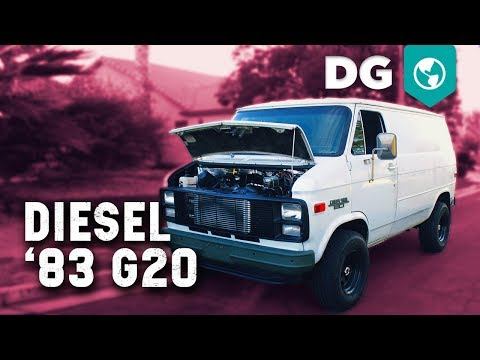 Detroit V8 Turbo Diesel swapped '83 Chevy G20 Shorty with