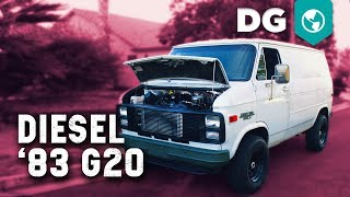Detroit V8 Turbo Diesel swapped '83 Chevy G20 Shorty with Air Ride