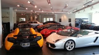 Exotic Car Showroom || Walk Through || GoPro Hero 2 || F.C. Kerbeck (7-20-13)