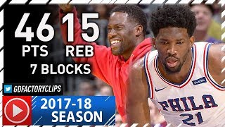 Joel Embiid EPIC Full Highlights vs Lakers (2017.11.15) - Career-HIGH 46 Pts, 15 Reb, 7 Blks!