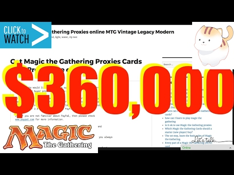 $360,000 Selling Magic the Gathering Proxy Cards