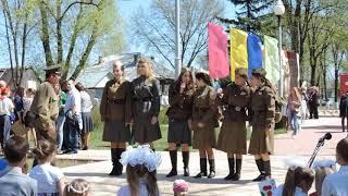 Митинг в рабочем поселке Мишеронский Московской области 9 мая 2015