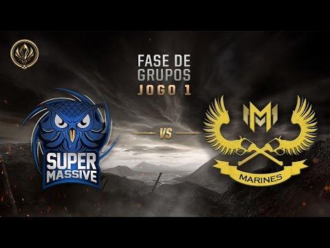 SuperMassive x Marines (Fase de Entrada - Jogo 1 - Dia 7) - MSI 2017