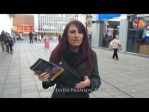 Britain First day of action in Basildon, Essex