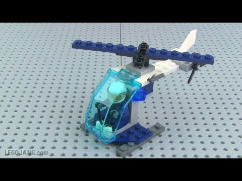 Lego City Police Helicopter 30222 Mini Set Mini Review Youtube