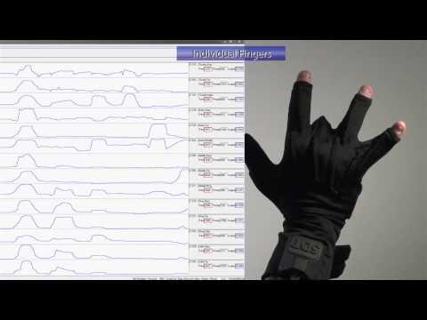 Data Glove Graph Demo (5DT - Fifth Dimension Technologies)