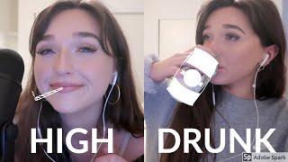 High VS. Drunk ASMR