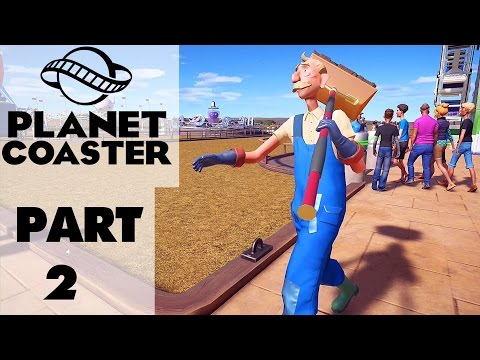 Planet Coaster Part 2 - Work Rosters and Cleaning Vomit