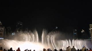 Dubai fontaine Burj Khalifa - Enta Omri, Oum Kalthoum