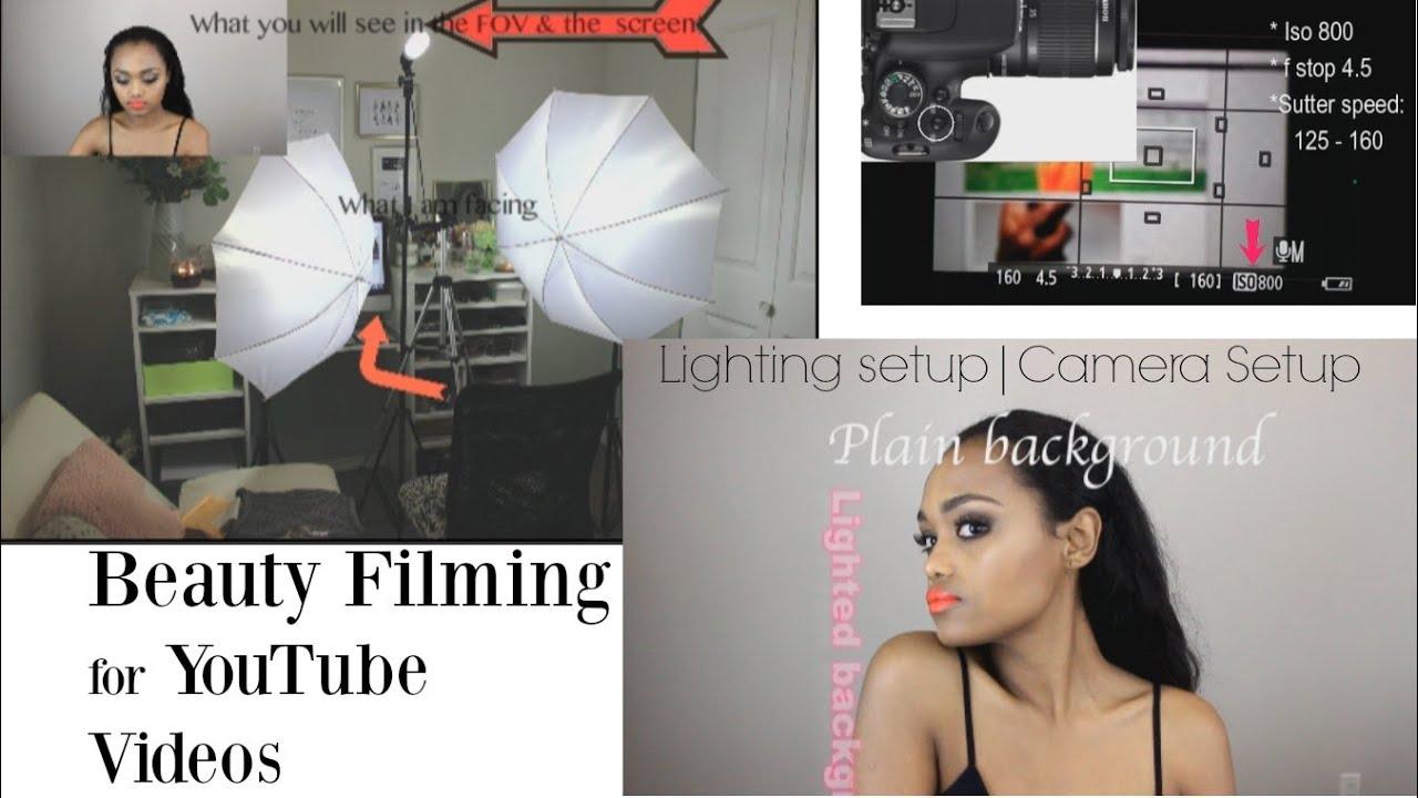 My Beauty Lighting| Camera set up | PLAIN vs LIGHTED Background |LOW LIGHT| Distance form the Lights  sc 1 st  YouTube & My Beauty Lighting| Camera set up | PLAIN vs LIGHTED Background ... azcodes.com