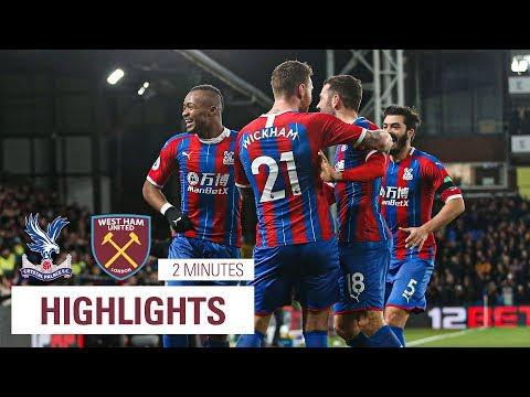 JORDAN AYEW WONDER GOAL VS WEST HAM | 2 minute highlights of Crystal Palace 2-1 West Ham