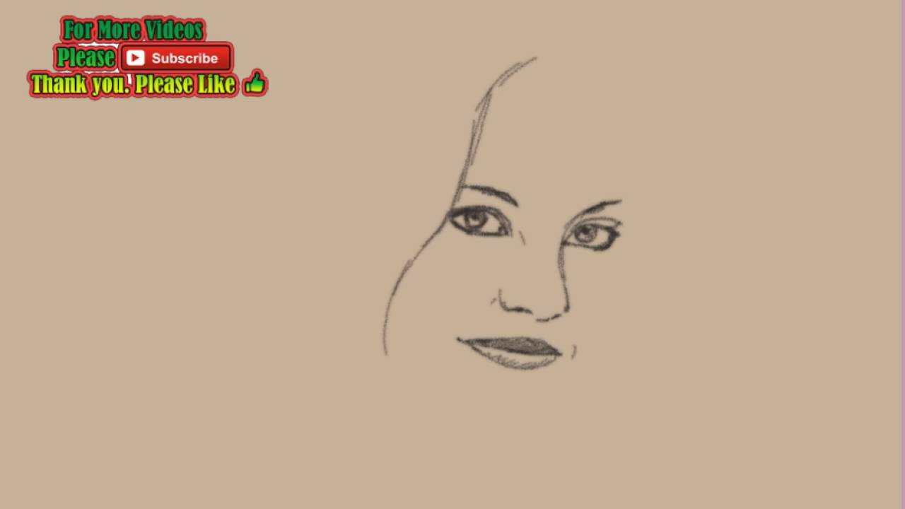 Uncategorized Easy Drawing Of A Girl how to draw a beautiful girl easy drawing youtube drawing