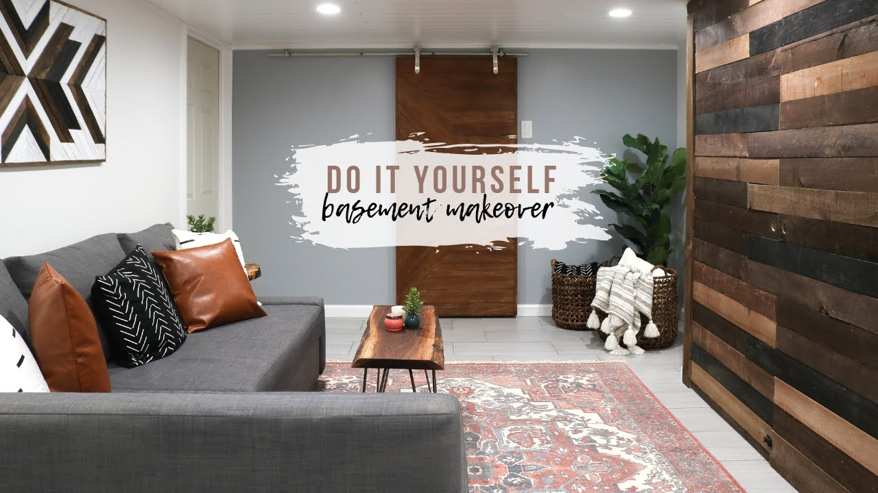 Diy Basement Makeover How To Room Renovation You