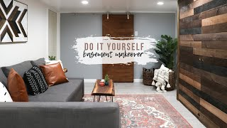 DIY Basement Makeover | Room Renovation