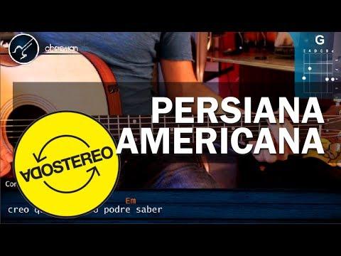 "Cómo tocar ""Persiana Americana"" de Soda Stereo -  en Guitarra Acústica (HD) Tutorial - Christianvib"