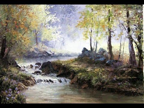 Palette Knife Forest Landscape | Oil Painting