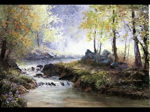 Palette Knife Forest Landscape Oil Painting Youtube
