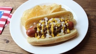 Coney Dogs - Coney Island Hot Dog - Hot Dog with Spicy Meat Sauce
