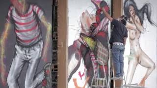 (Uncensored) David Choe Interview for myFinBec 2013 - Graffiti Art and Wine